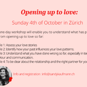Workshop Opening up to love