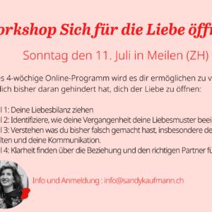 Workshop Sich für die Liebe öffnen