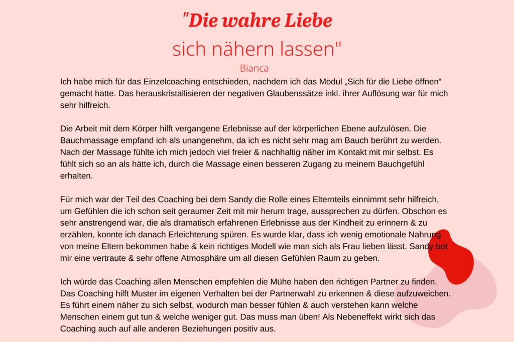 DE_Erfahrungsberichte_Liebescoach_Die wahre Liebe sich nähern lassen